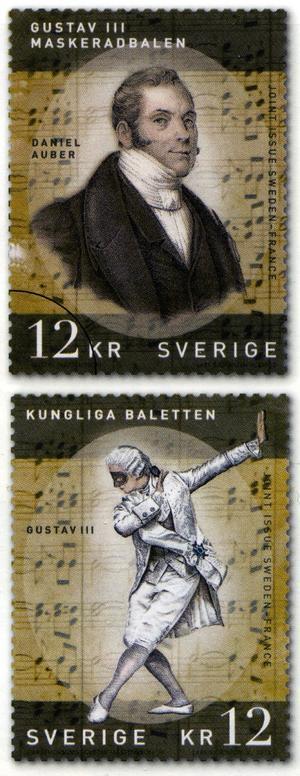 De av Lars Sjööblom graverade frimärkena till utgåvan