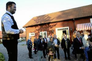 Teaterchefen. Johan Gille skämtade om att VIP-kvällen var ett extra stressmoment, innan teaterpremiären nästa fredag.