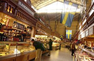 Östermalmshallen är en klassisk saluhall i Stockholm.Foto: Barbro Vivien / SvD / SCANPIX