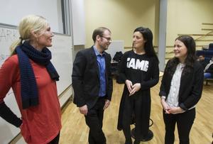 Annika Forsberg och Per Friberg uppskattade Felicia Dannebrant och Sara Norling initiativ.