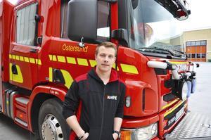 Olle Olofsson är hemma och vänder i Östersund innan resan till Knoxville, Tennessee.