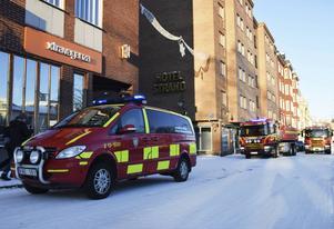 Brandlarmet på Hotell Strand misstänks ha orsakats av ett elfel.