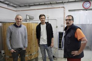 Från vänster Oskar de Vahl, Christer Sehlstedt och Petter de Vahl. Äldste brodern Joel saknas på bilden.