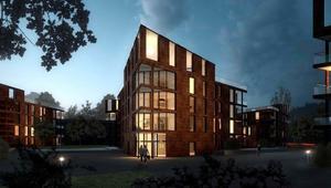 Bostadsbygget vid Gideonsbergsskolan som totalt väntas ta fyra år har påbörjats.