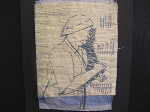Kvinnoarbetet i linnspinneriet.