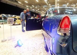 Calle Strandberg och Agne Ottosson gillade denna Volvoblå Chevrolet Bel Air från 1955.
