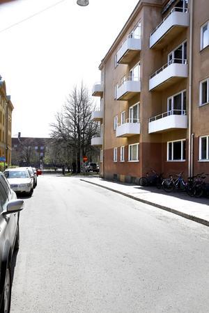 Kyrkogatan har blivit en del av raggarrundan.Bilen på bilden trafikerar dock inte Gävles gator.