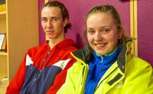 Louise Ek och Nils Ross från Linköping är nöjda med att de hoppade på Tekniksprånget och hamnade i Sveg.