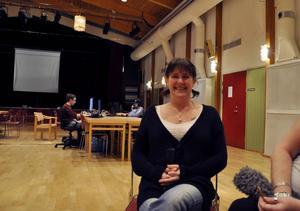 Åsa Hurtig Göransson från ABF fanns på plats under lanet för att se till att ungdomarna hade det bra och att allt fungerade.