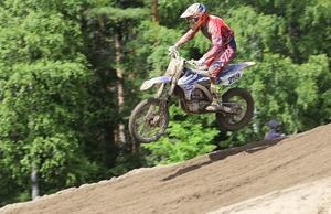 Anton Wallin, SMK Söderhamn, var i hetluften och körde starkt i SM-deltävlingen.