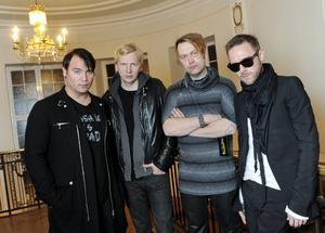 Markus Mustonen, Sami Sirviö, Martin Sköld och Jocke Berg i Kent.