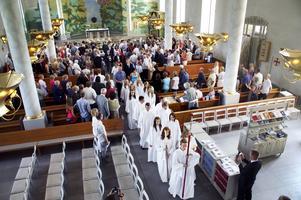 Konfirmation i Kumla kyrka 2009.