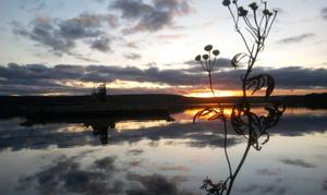 Visst bor vi fint i Jämtland! Bilden tagen efter Storsjöstråket kl. 15.49.53 den 2 november 2011. (Klicka på bilderna så blir de större)