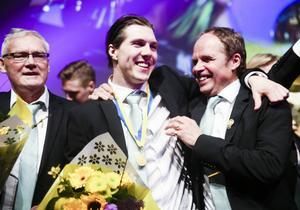 Det stora segersmilet var ständigt påkopplat när Ted Bergström och Västerås hyllades på bandygalan.