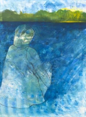 Akryl på duk av Eva Carlsson.