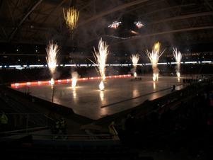 Bandyfinalen i Friends Arena är slutspelad och som avsluting blev det ett fyrverkeri