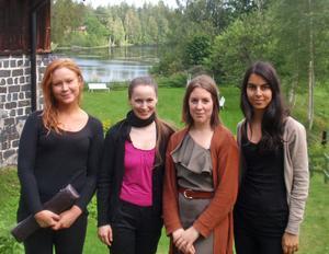 De framstående flöjtisterna heter från vänster till höger: Clara E Medling, Jana Jarkovská, Tove Edqvist och Panak Hashemian
