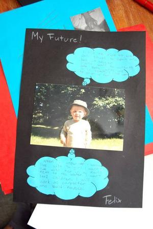 MIN DRÖM. Felix Eriksson, 12, har sin framtidsdröm klar. Han ska bo i Älvkarleby vid vattnet, jobba som snickare, skaffa en tjej och ett eller två barn.