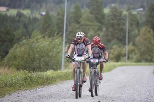Vinnarna i duoklassen, Jan Åhlin och Kristoffer Ståhl, från Alnö.
