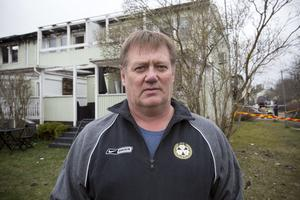 Hans Holmqvist lämnade brandplatsen igår.