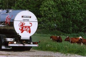 Regeringens vägslitageavgift betyder en skattehöjning på 40 000 i månaden för mjölkbilen, har Eric Thorsell räknat ut.