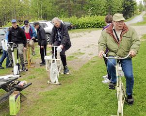 Vid Söderås missionskyrka hade Parkinsongruppen sitt eget Siljan runt, dock på motionscykel.