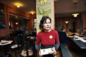 Denise Fahlander arbetar för hållbarhet och pratade om hur man kan äta fisk miljövänligt.
