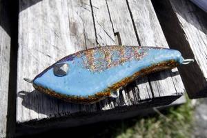 Eleverna har även fått göra egna wobblers som kan komma till användning nu när båten är klar och redo för fisketurer.