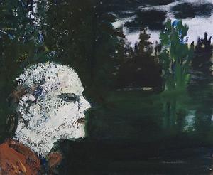 Fågelskådaren, målning av Hans Wigert.