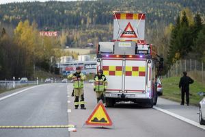 Olycka på E4 vid Birsta orsakade trafikkaos med långa köer.