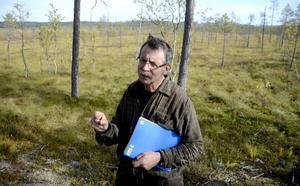 Lars-Erik Lundberg har tillbringat mycket tid på Bölesmyren. Nu är han beredd att göra allt som står i hans makt för att stoppa Jämtkrafts planer på torvbrytning på myren.