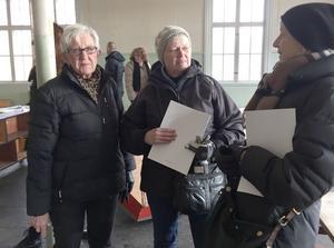 Solveig Gardehed, Karin Carlsson och Karin Malmqvist hade många minnen från sin skoltid.