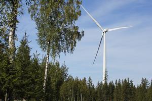 Vindkraftverken på Svartvallsberget sattes full drift hösten 2014.
