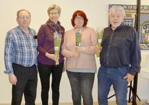 Bengt Albertsson, Gunilla Fransman, Marie Hinders och Odmar Zars gästade PRO Malungs möte.