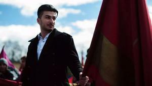 Ordförande. Milian Pehani, ordförande för Ung vänster i Västmanland, stöder de avstängda medlemmarna.
