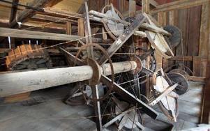 Linslageriet där stråltrådar rullades och virades samman till en vajer.