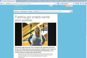 Den artikel med bild som publicerades i ÖP 29 januari år tog Moderaterna rakt av och lade in på sin hemsida 22 maj.
