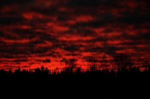 Ja, såhär såg himlen ut häromdagen, härligt med den rosa färgen tycker jag. :)