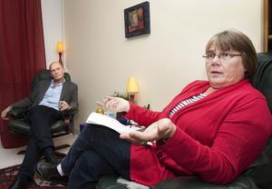 Mister kontrakt och patienter. Gunnar Ganse och Gunhild Sünger är två psykoterapeuter som nu mister sina landstingskontrakt. Båda har flera årtiondens erfarenhet av psykoterapi, men kan nu bara fortsätta att arbeta med patienter som kan betala hela kostnaden för behandlingen.