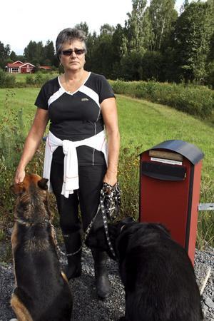 Tove Tonning har under ett och ett halv år fått sin brevlåda saboterad och posten har blivit stulen. Nu har hon polisanmält händelserna som rubriceras som olaga hot och skadegörelse.