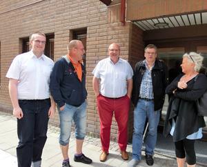 Fr v Ingemar Berg, Botniatåg, Bert Persson Seko trafik, Norrtågs ordförande Thomas Hägg, ombudsman Roger Johansson Seko och Christina Viberg, kundvärdar Botniatåg.