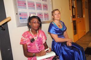 Leslie Nkwonia och Carina Stenberg.