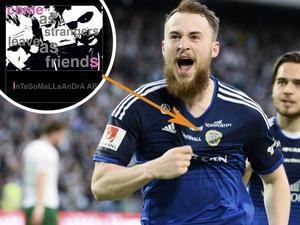 InTeSoMaLLaAnDrA AB blir det första företaget i Sverige som köper en sponsorplats på insidan av matchtröjorna.