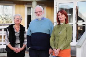 Ulla Lagerkvist från Röda korset, kyrkoherde Thors Hägglund och diakon Birgitta Sund vill starta en dagverksamhet efter årsskiftet.