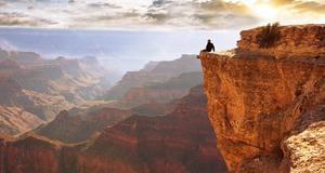 Svindlande utsikt från ett av svenskarnas drömresmål - Grand Canyon.