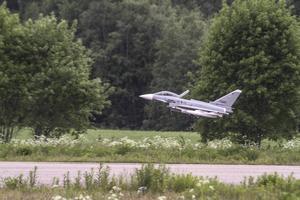 En lyckad premiärflygning blev det för Gunnar Åströms Eurofighter.