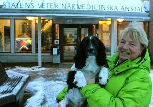 Vi på SVA ser smuggelhundarna som den stora faran för att få in rabies till vårt land och vill varna alla hundköpare, säger veterinär Louise Treiberg Berndtsson med egna hunden Nosa.