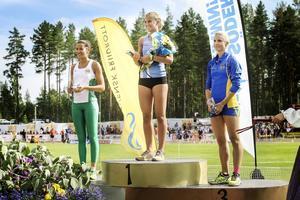 Högst upp på pallen: Gefle IF:s Madeleine Nilsson.