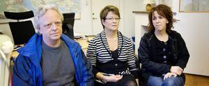 Jan-Olof Blomberg och Kristin Lisshamre är kommunordförande för Lärarnas riksförbund respektive Lärarförbundet i Bollnäs. Britt Blom, till höger, är arbetsplatsombud för Lärarförbundet.