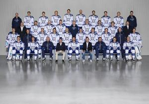 Leksands IF:s lagfoto inför säsongen 2016-2017 - i klubbens bortaställ. De senaste två åren i SHL har LIF kört med den blåa hemmatröjan.